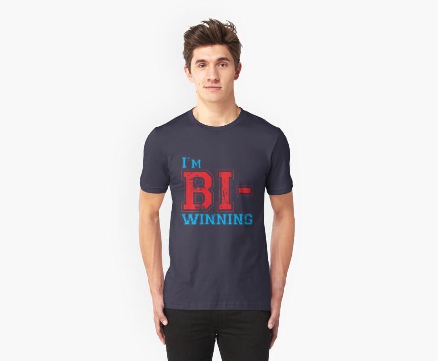 Bi-Winning red/blue by wittytees