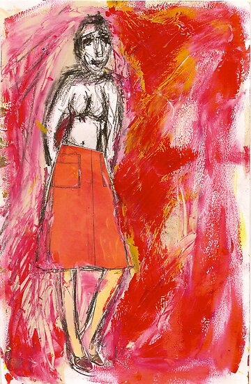 nude in red, 2011 by Thelma Van Rensburg