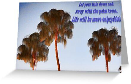 Hairy Palm Trees by daphsam