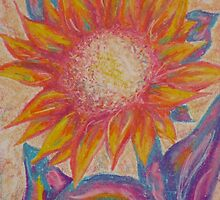 pastel sunflower by Kelly Steen