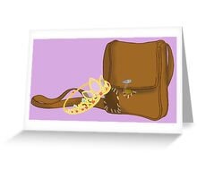 Satchel and Crown Greeting Card