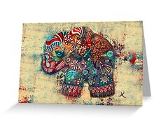 Vintage Elephant Greeting Card