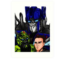 Prime, Ratchet And Sam Art Print