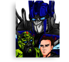 Prime, Ratchet And Sam Canvas Print