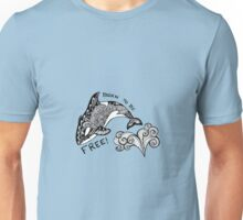 Born To Be Free Orca Zentangle Unisex T-Shirt