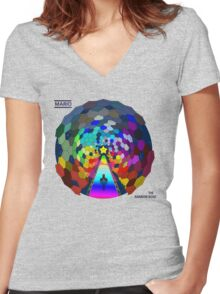 The rainbow road Women's Fitted V-Neck T-Shirt
