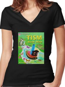 TISM Boat Hire Women's Fitted V-Neck T-Shirt