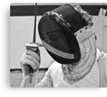 Salute - Fencer Prepares To Fight Canvas Print