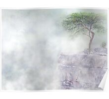 Misty Morning At Buzzards Roost TN Poster