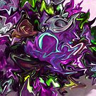 Abstract in Purple by Charldia
