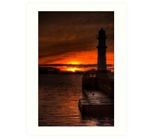 Sunset at the Lighthouse Art Print