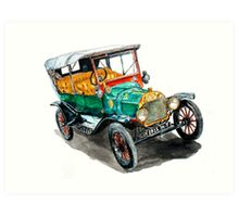 1915 Model T Ford Art Print