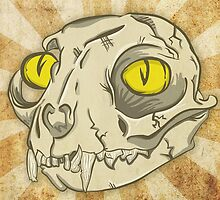 Skull Cat by wesleykhall