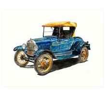 1927 Ford Model T Roadster Art Print