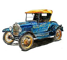 1927 Ford Model T Roadster Photographic Print