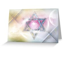 STAR OF DAVID-2- bless and protect Greeting Card