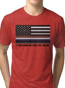Police Fire EMS Tribute Tri-blend T-Shirt