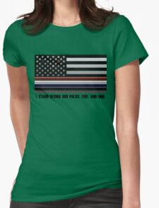 Police Fire EMS Tribute Womens Fitted T-Shirt