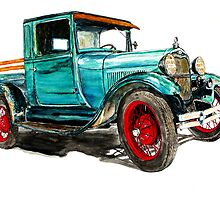 1929 MODEL A FORD by Ob-Art