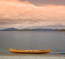 Canoe at Duck Bay Overlooking Loch Lomond by ScottishVet