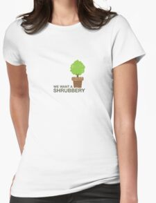 Shrubbery Womens Fitted T-Shirt