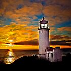 Sunset At North Head by haybales