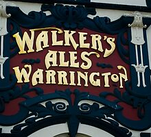 Walkers Pub Sign Liverpool by Suzanne Jeffs