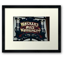 Walkers Pub Sign Liverpool Framed Print
