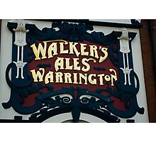 Walkers Pub Sign Liverpool Photographic Print