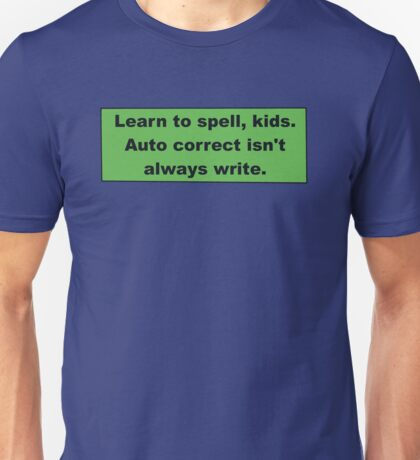 Learn to spell Unisex T-Shirt