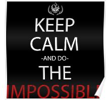 gurren lagann keep calm and do the impossible anime manga shirt Poster
