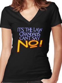 GRANDADS LAW 1 Women's Fitted V-Neck T-Shirt
