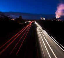 Car light trails by DaleReynolds