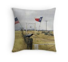 Six Flags Over Texas Minus Four Throw Pillow