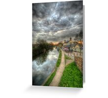 Moody Sunset At The Boat Inn Greeting Card