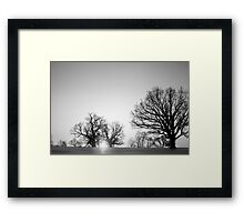 Sun setting in horse country Framed Print