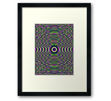 Just One Step Over the Line. Framed Print
