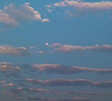 Cloud streets at Moonrise by Odille Esmonde-Morgan