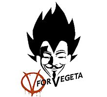 Vegeta V Photographic Print