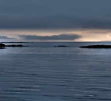 Calm Seas Camusdarach Towards Skye Morar Scotland by Stephen  Hollas