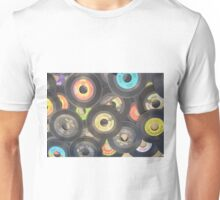 oldies rock n roll records-45's Unisex T-Shirt