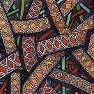 159 - OVERLAPPING RIBBONS - DAVE EDWARDS - WATERCOLOUR & INK - 2006 by BLYTHART