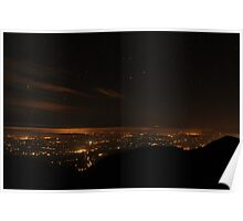 Mid Kerry at night from Purple Mt Poster