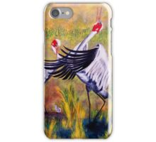 Brolga's Courtship Dance iPhone Case/Skin