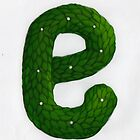 "Topiary Alphabet ""e"" Coloured by Donna Huntriss"