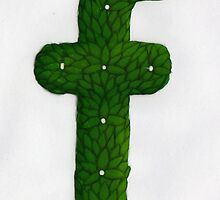 "Topiary Alphabet ""f"" Coloured by Donna Huntriss"