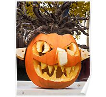 Scary Jack-O-Lantern Poster