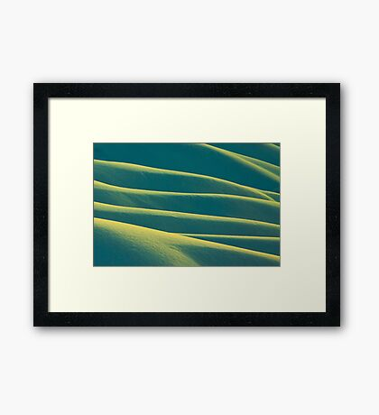 Snow hills Framed Print