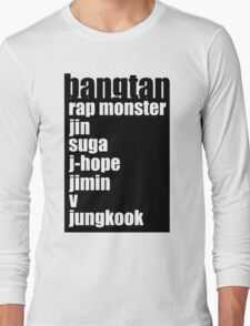 BTS/Bangtan Boys + Names Long Sleeve T-Shirt