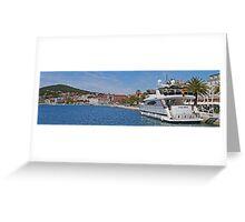 Waterfront at Split, Croatia (Panorama) Greeting Card